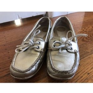 Sperry Women's Topsider Shoe, Pewter, Size 7